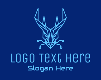Gaming Mascot - Blue Dragon Tech logo design
