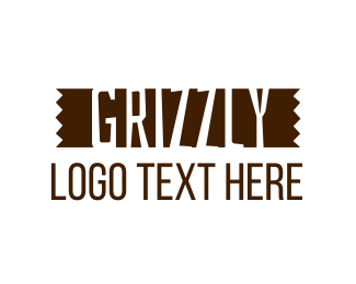 Mill - Grizzly Lumber Wordmark logo design