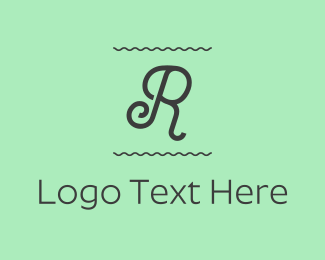 Curly - Curly Letter R logo design