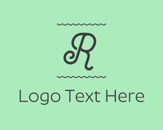 Letter R - Curly Letter R logo design