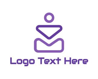 Shape - Abstract Violet Shapes logo design