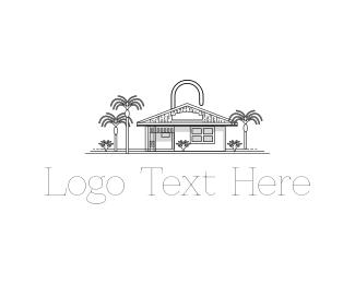 Secret - Padlock House logo design