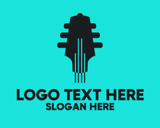 Music Label - Guitar Band logo design