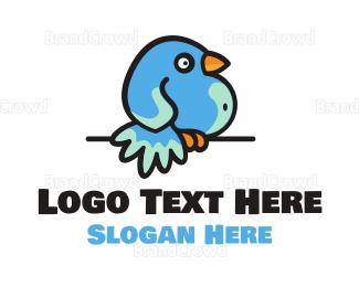Chirp - Fat Bird logo design