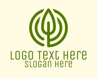 Green Leaf Circle Logo