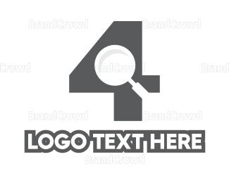 Fbi - Number 4 Investigator logo design