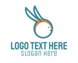 Rodent - Blue Rabbit logo design