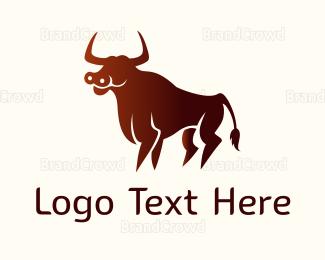 Cattle - Wild Red Bull logo design