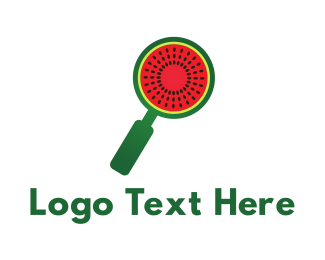 Red Watermelon - Melon Search logo design