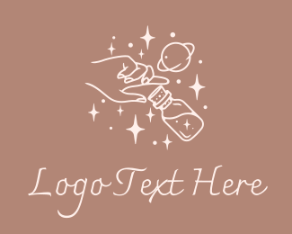 Starry Night - Mystic Hand Potion  logo design