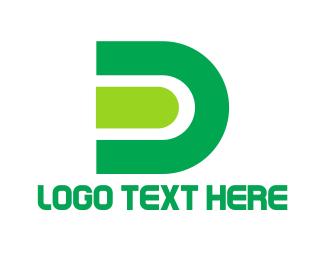 Magnet - Green Letter D logo design
