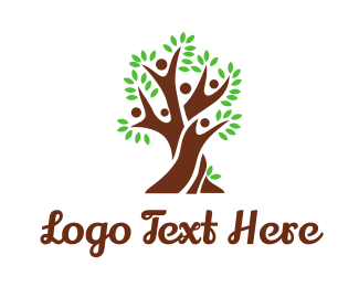 Generation - People Tree logo design