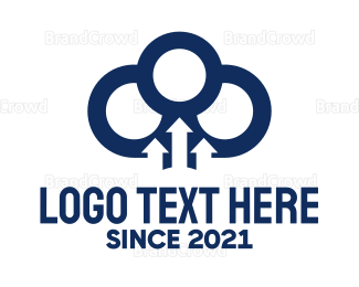 Arrows - Cloud & Arrows logo design