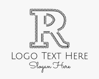 Rap - Serif Letter R logo design