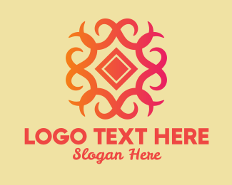 Textile Pattern - Ornate Decor Tile  logo design