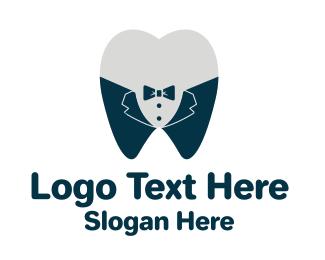 Tuxedo - Tuxedo Tooth  logo design
