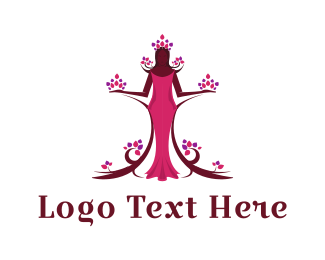 Human Tree - Flora Princess logo design