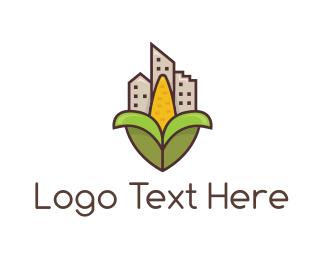 Agritech - Corn City logo design
