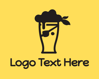 Alcohol - Pirate Beer logo design