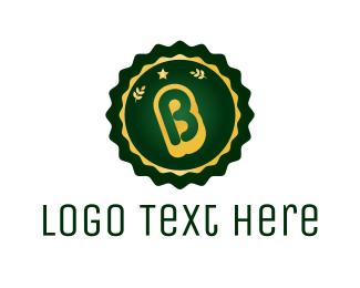 Authentic - Stamp Letter B logo design