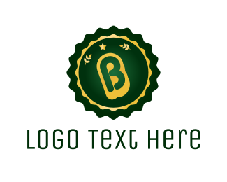 Wheat - Stamp Letter B logo design