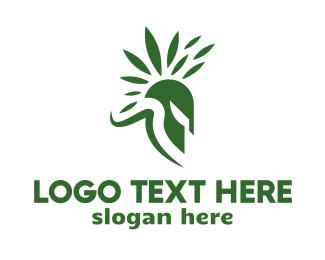 Headgear - Spartan Leaf logo design