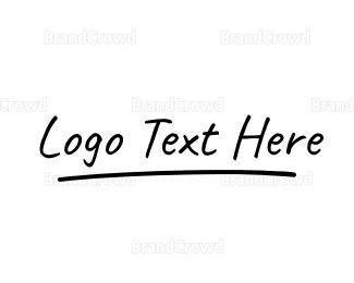 Calligraphic - Signature Wordmark logo design