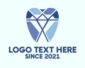 Teeth - Diamond Dental Dentist Tooth logo design