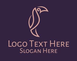 Rainforest - Linear Toucan Bird logo design