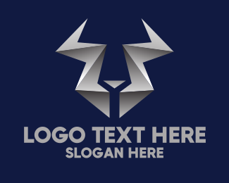Bull Horns - Modern Metallic Horns logo design