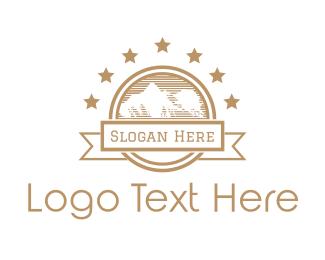 Glacier - Mountain & Stars logo design