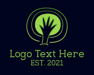 Kids Apparel - Environmentalist Hands logo design