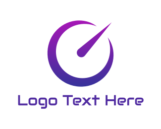 Speedometer - Neon Purple Speedometer logo design