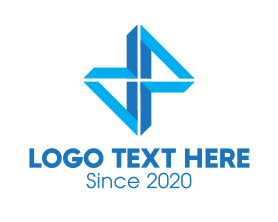 Management - Abstract Blue Hourglass logo design