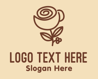 Roasted - Flower Coffee Cup logo design