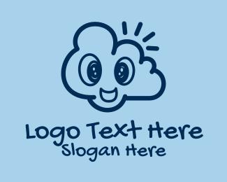 Doodle Artist - Happy Cloud Doodle  logo design