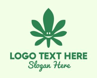 Cannabis Leaf Smile Logo