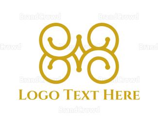 Outlines - Golden Curves logo design