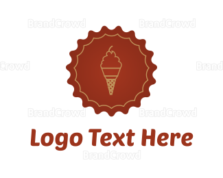 Frozen - Ice Cream logo design
