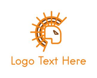 Lion - Sun Lion logo design