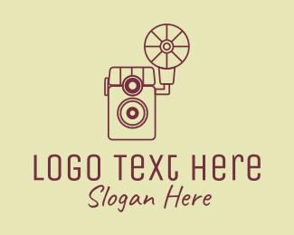 50s - Vintage Photography Camera logo design