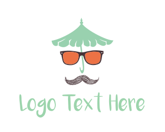 Moustache & Sunglasses Logo