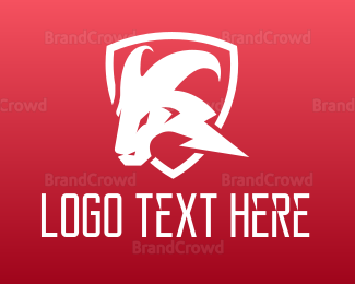 Eletrician - Lightning Bolt Ram logo design