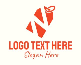 Purchase - Orange Price Tag Letter N logo design