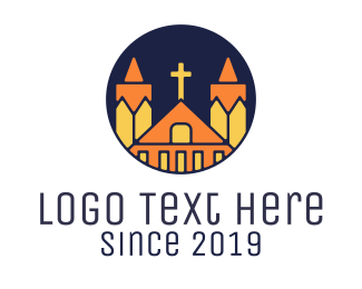 Worship - Polygonal Church logo design