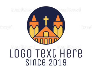 Chapel - Polygonal Church logo design