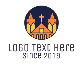Church - Polygonal Church logo design