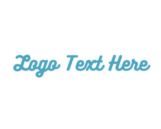 Music Production - Blue Fresh Text logo design