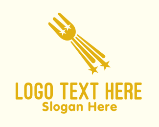 Food Vlogger - Star Fork Restaurant logo design