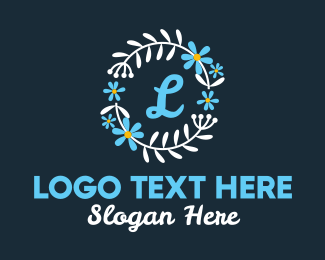 Beauty Vlog - Ornamental Flower Lettermark logo design